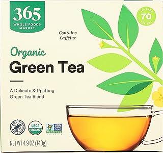 365 by Whole Foods Market, Organic Green Tea - Contains Caffeine (70 Tea Bags), 4.9 Ounce
