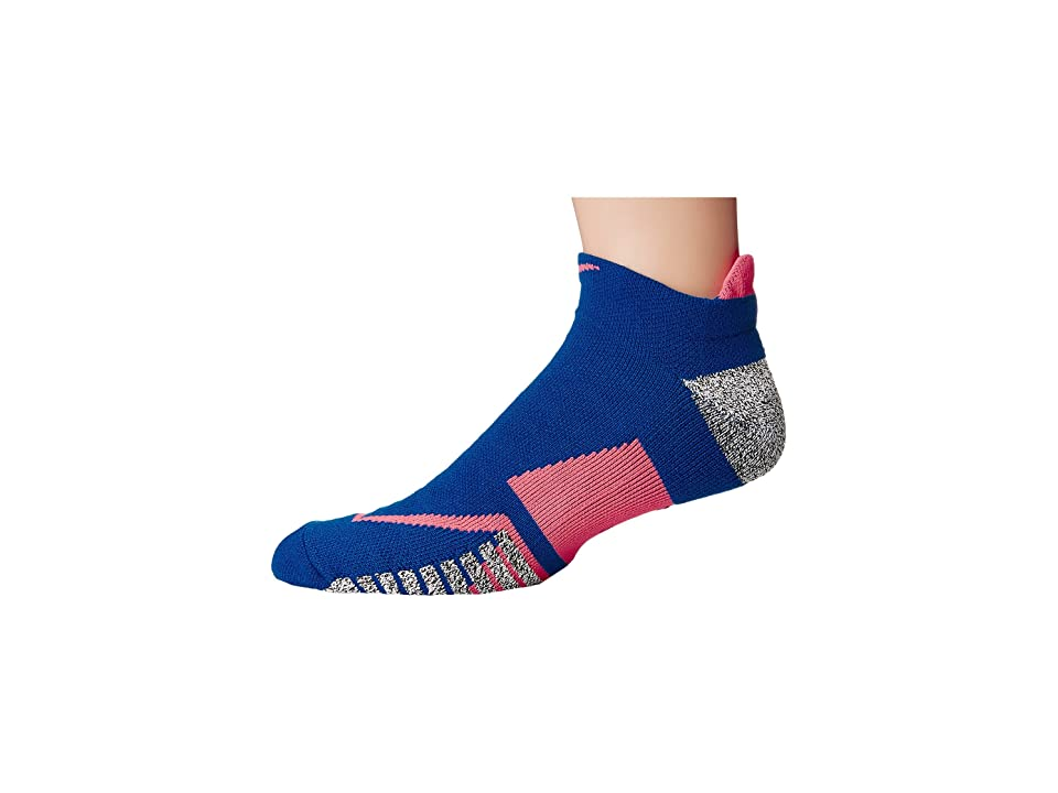 Nike NIKEGRIP Elite No Show Tennis Socks (Blue Jay/Hot Punch/Blue Jay) No Show Socks Shoes