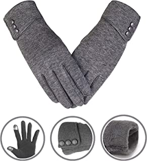 Winter Warm Gloves Touchscreen Windproof Full Finger Gloves Women Girls