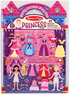 Melissa & Doug Puffy Sticker Play Set, Princess (Reusable Activity Book,67 Stickers, Great for Travel, Great Gift for Girls and Boys – Best for 4, 5, 6, 7 and 8 Year Olds)