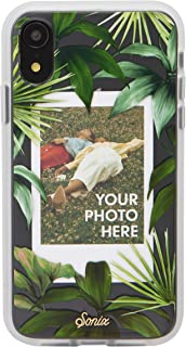 Sonix Tasmania Photo Frame Case (Palm Leaves) Case for iPhone XR [Military Drop Test Certified] Protective Clear Polaroid Picture Case Series for Apple iPhone XR