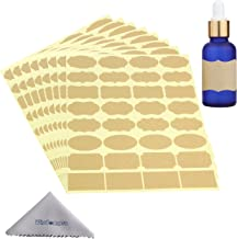Wisdompro Fancy Shape Stickers Labels for Essential Oil Bottle and Food Jars - 8 Sheet (256Pcs) - Small