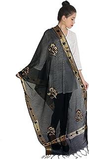 Duppata Indian tradional shawl duppatta chunni stole Black