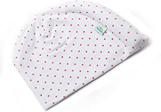 Tortle Head Repositioning Beanie - Prevent and Treat Flat Head Syndrome (0-2 Months/5-10 LBS, Pink Polka Dot)