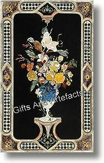 Gifts And Artefacts Table de salle à manger rectangulaire en marbre 30 x 60 cm