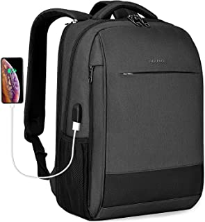 Laptop Backpack,Tigernu Business Travel Anti Theft Slim Durable Laptops Backpack with USB Charging Port,Water Resistant College School Computer Bag for Women & Men Fits 15.6 Inch Laptop and Notebook