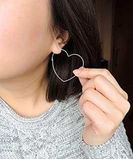 14K Gold Filled Heart Hoops - Small or Large Size, Gold Heart Hoop Earrings, Huge Heart Hoops - Hearts Jewelry, Valentines, Mothers Day Gift
