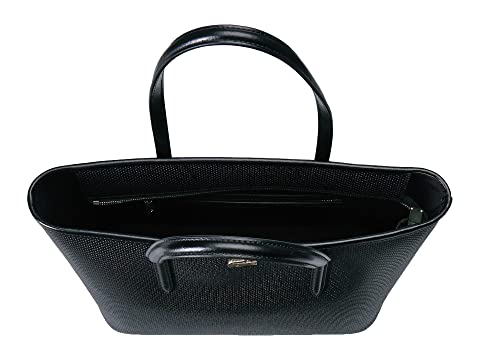 Lacoste Chantaco M Zip Shopping Bag Black Cheap Sale Great Deals Clearance Lowest Price iPO8ypmc