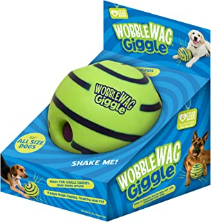 Wobble Wag Giggle Ball, Interactive Dog Toy, Fun Giggle Sounds When Rolled or Shaken,..