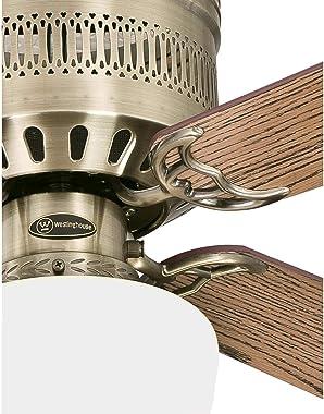 Westinghouse Lighting 7230900 Casanova Supreme Ventilador de techo con luz, 42 pulgadas, latón envejecido