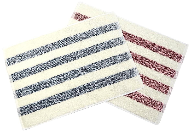 エッセイ気づく民間kosugizen タオルバスマット 2色 43×63cm マリン(ネイビー?レッド) 各色1枚 2枚入