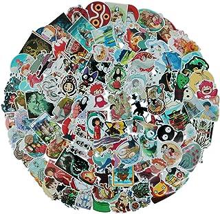 مجموعة من 100 ملصق مستوحاة من فيلم الرسوم المتحركة ميازاكي هاياو، مجموعات ملصقات عشوائية، للاستخدام مع زجاجات المياه واللا...