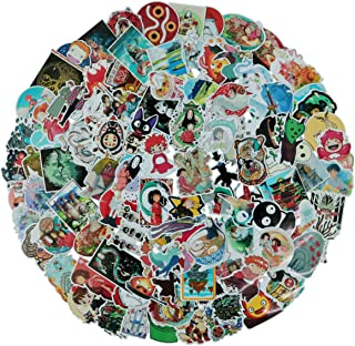 100Pack Miyazaki Hayao Animation Film Theme Stickers Set Random Sticker Decals for Water Bottle Laptop Cellphone Bicycle Motorcycle Car Bumper Luggage Travel Case. Etc (Miyazaki Hayao)