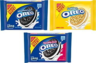OREO Original, Double Stuf & Golden Cookies Variety Pack, Family Size, 3 Packs