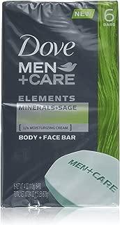 Dove Men+Care Body and Face Bar, Minerals + Sage 4 oz, 6 Bar
