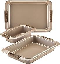 Anolon 3-Piece Steel Bakeware Set Bronze