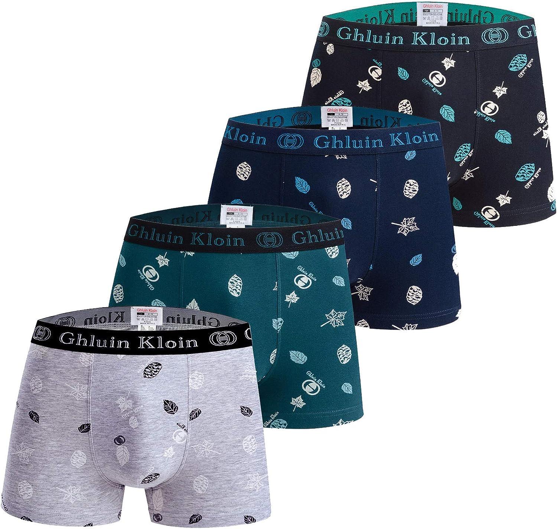 Boys Cotton Boxer Briefs Underwear 2-16 Years Underpants 4-Pack Multicoloured Set Italian Design Ultra Soft (10-12 Years, 5038)