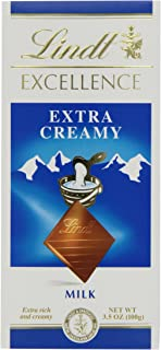 Lindt Excellence Extra Creamy Milk Chocolate, 3.5 Ounce (Pack of 1)