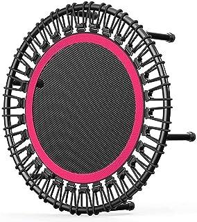 Studsmatta, mini trampoline 40 tum, stabil och tyst bungee rebounder för barn vuxna inomhus/trädgård träning, maximal bel...