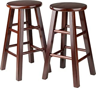 Winsome Square Leg Counter Stool, Set of 2, 24