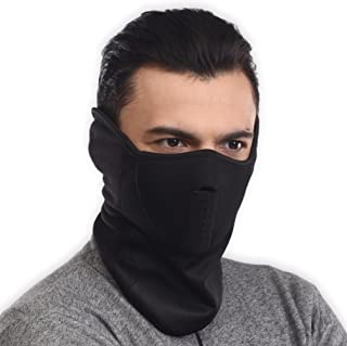 Neoprene Half Face Ski Mask - Cold Weather Tactical Face Cover/Warmer For Skiing, Snowboarding, Running, Motorcycling & Winter Sports - Fits Men & Women