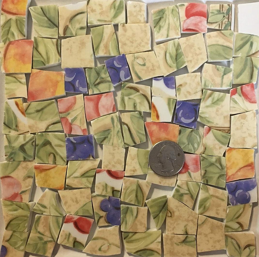 Mosaic Art & Crafts Supply ~ Orange Purple & Yellow Fruit China Tiles (B390)