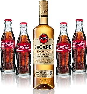 Cuba Libre Set - Bacardi Carta Oro Gold Rum 1L 40% Vol  4x Coca Cola 0,2L - Inkl. Pfand MEHRWEG