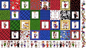 Loralie Designs - Medley Cool School Fabric Panel for Sewing - Loralie's Teacher Fabric Collection - Multi Color Teacher Fabric - 100% Cotton/Washable
