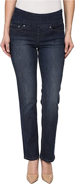 Jag Jeans Petite - Petite Peri Pull-On Straight in Anchor Blue