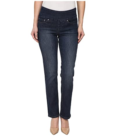 Jag Jeans Petite Peri Pull-On Denim Straight Leg Jeans (Anchor Blue) Women