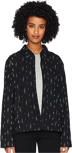 Organic Cotton Mandarin 3/4 Sleeve Short Jacket