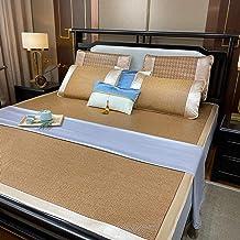 Summer Sleeping mat, Summer ice Silk mat, Rattan mat, Three-Piece Set, Washed Student Dormitory, Summer 1.8 mat, 1.5 m, Su...