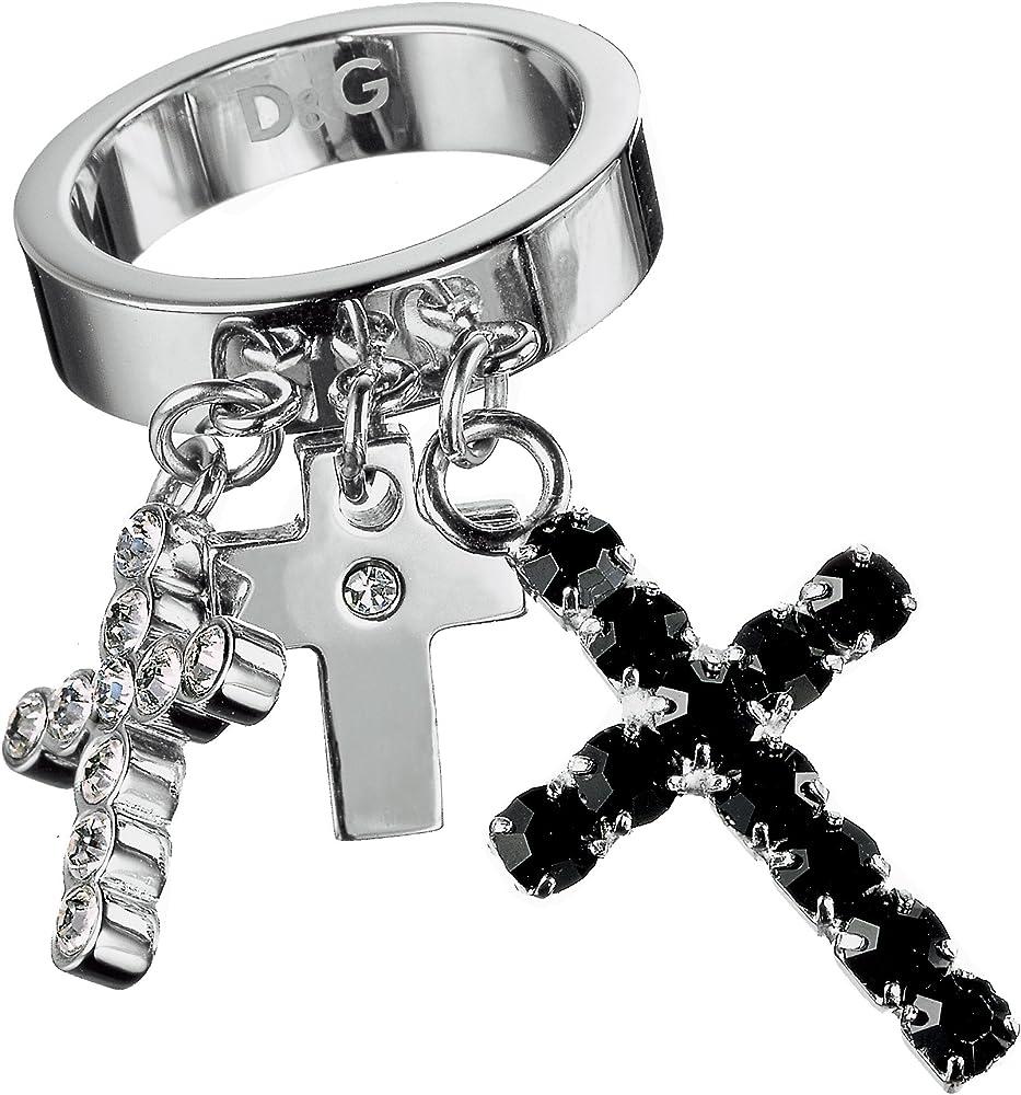 Dolce & gabbana anello in acciaio inossidabile cross road da donna D&G Crossroad
