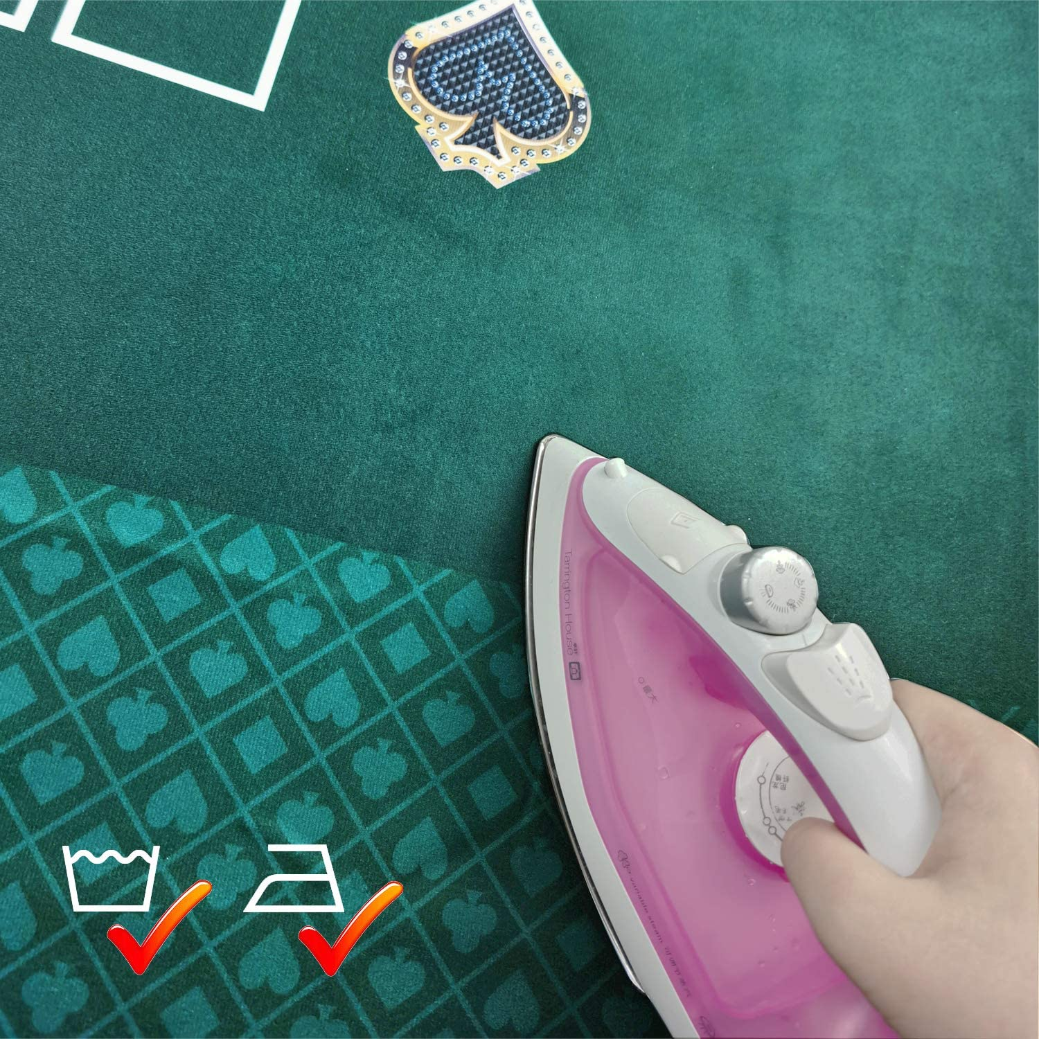 BALIKEN Poker 108X60Inch Section of Two-Tone Suited Poker Table Speed Cloth