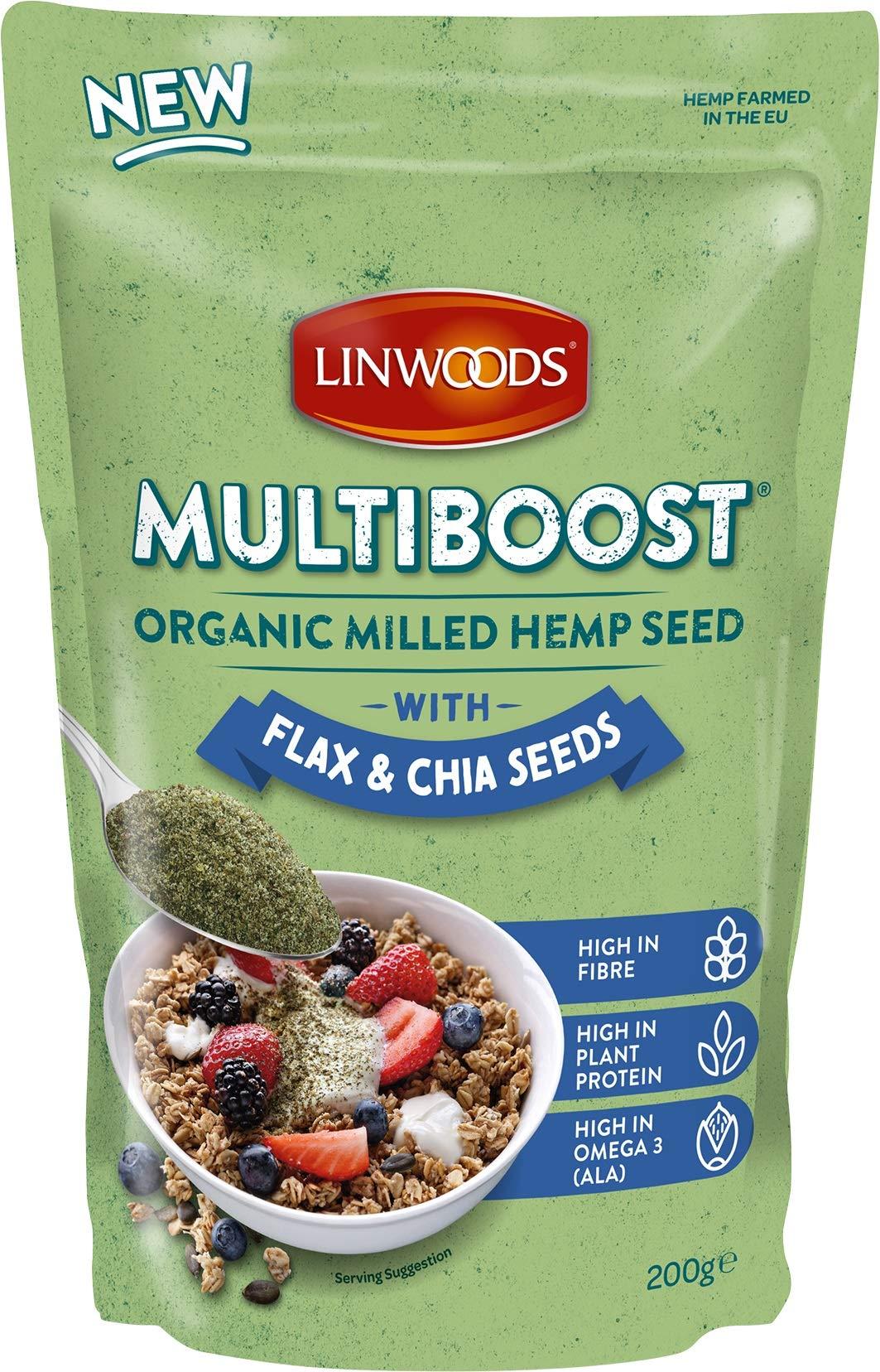 Linwoods Semillas MOLIDAS DE CAÑAMO Lino Y CHIA Bio 200 g, No aplicable: Amazon.es: Hogar