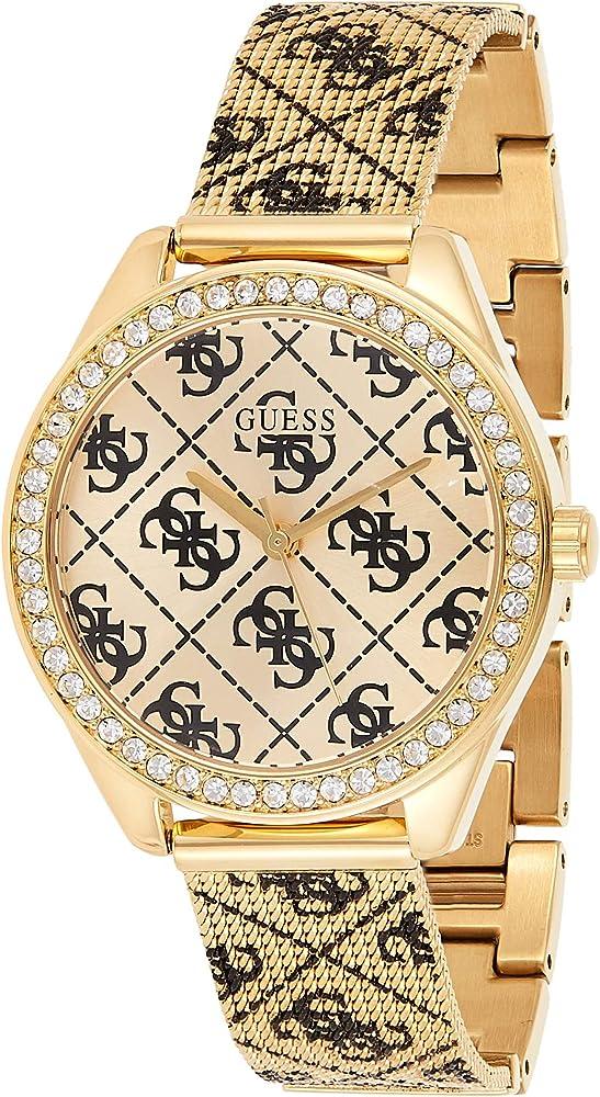 Guess,orologio per donna, in acciaio inossidabile placcato oro W1279L2