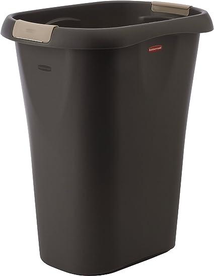 Rubbermaid Open Wastebasket 32 Quart Black Home Kitchen