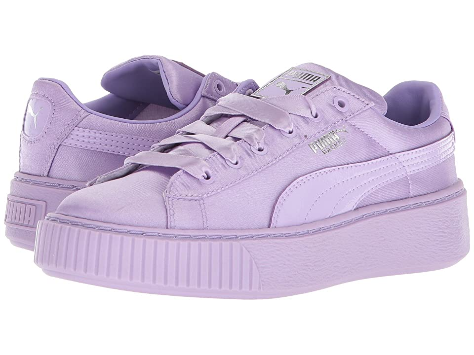 Puma Kids Basket Perform Tween (Little Kid) (Purple Rose/Purple Rose) Girls Shoes