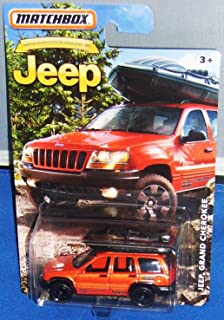 2016 Matchbox Jeep 75th Anniversary - Jeep Grand Cherokee (Orange)