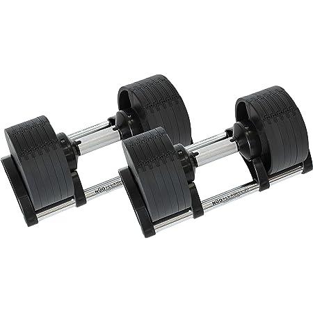東急スポーツオアシス FLEXBELL 20kg×2個セット フレックスベル 可変式 ダンベル 鉄アレー ワンタッチ切替 6段階 (4kg刻み)
