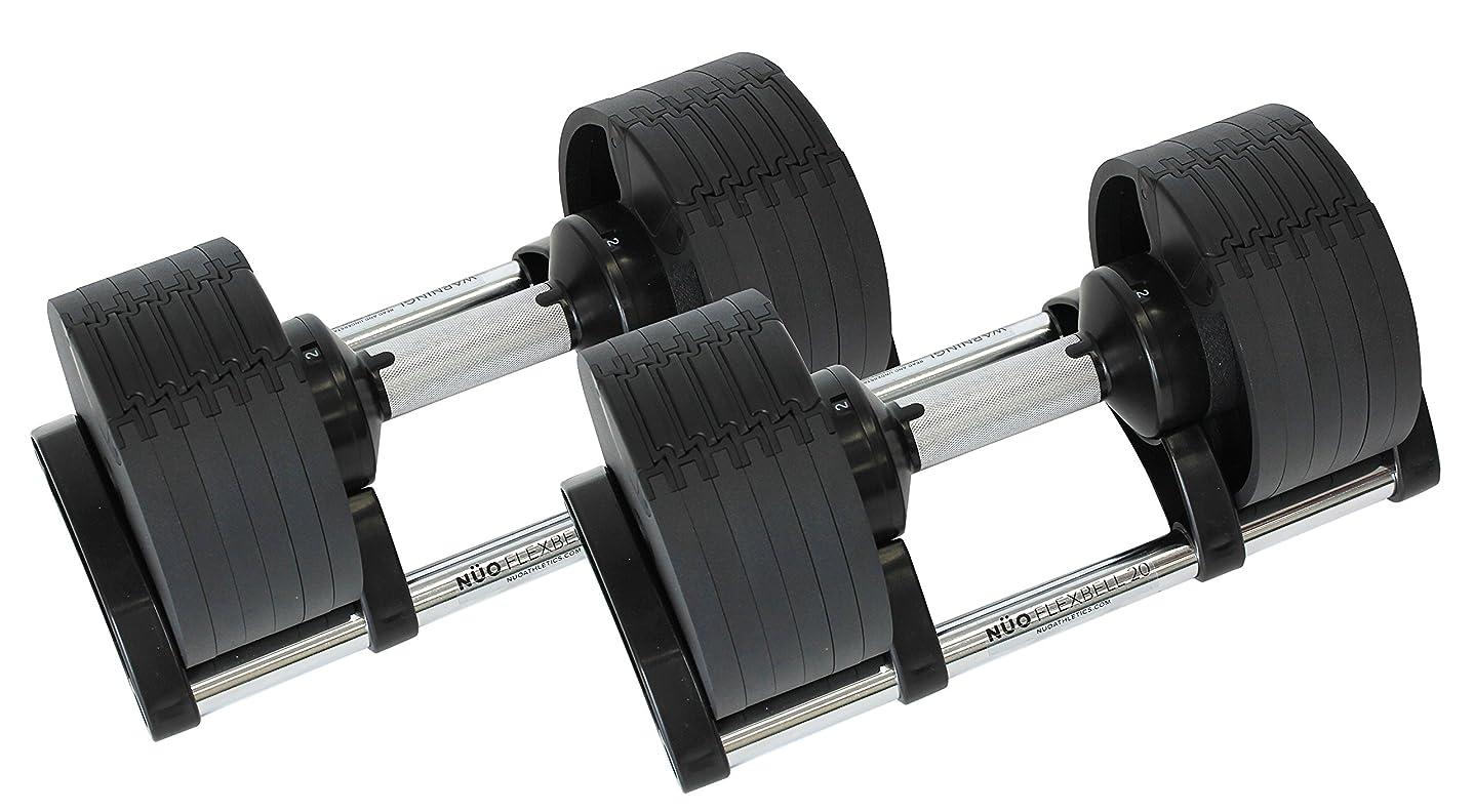 飼いならす徒歩で告発東急スポーツオアシス 可変式ダンベル 20kg 2個セット (20kg×2) 6段階(2 4 8 12 16 20)kg FLEXBELL (フレックスベル)