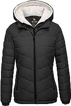 Wantdo Women's Winter Coats Hooded Windproof Puffer Jacket