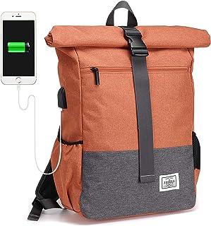 JOSEKO - Mochila para Ordenador portátil, Ligera, Impermeable, para Negocios, con Gran Capacidad y Puerto de Carga USB Nar...
