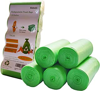 Compost Bags 200 Counts,Compostable Trash Bags 2.6 Gallon,10Liter,Small Trash Bags ,Biodegradable trash bags for Kitchen B...