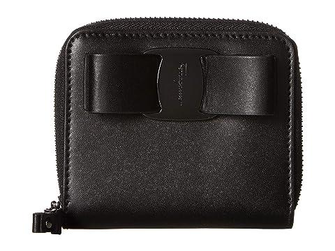 Salvatore Ferragamo Vara Compant Bow Zip Around Wallet