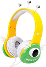 DURAGADGET Colourful Green and Yellow Children's Monster Headphones Compatible with VTech Innotab 3, VTech Innotab 3S