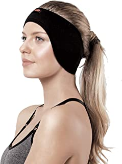 Headband for Women - Ear Muff for Workouts, Sports, Running and Fitness - Non-slip Sweat Absorbent Earwarmer - Earmuff for Running and Jogging - Earband for Swimming - Cozy Sweatband