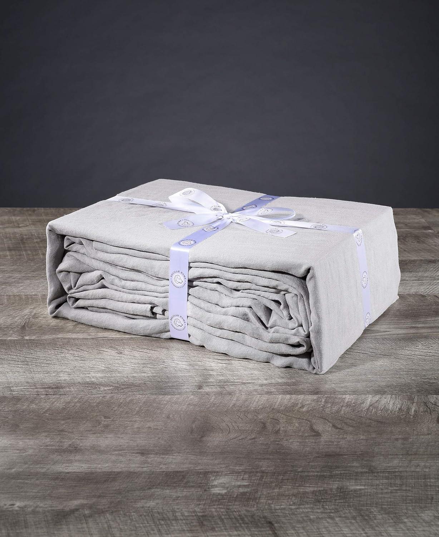 Delilah 予約販売品 Home 100% オンラインショッピング Hemp Bed Gray Sheets Light King
