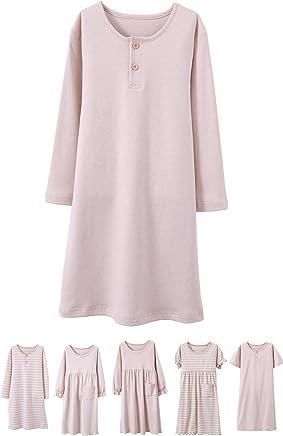 39145297df8c Abalacoco Girls Kids Organic Cotton Nightgown Sleepwear Dress Soft Home Dress  Summer Autumn Short Long Sleeve
