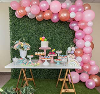 Funwoo Balloon Garland Kit   Pink Balloon Arch Kit   Pack of 100 Rose Gold White Blush Pink Balloons for Baby Shower Bridal Girls Birthday Party Decorations   Glue Dots and Decorating Strip Included